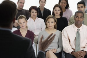 Employees Listening to Presentation